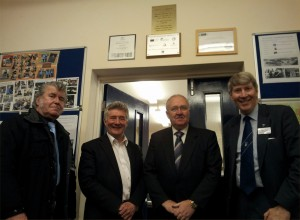 From L to R - Tony Cross, Tony Llyode MP, Frank O'Rourke and Alistair Scott