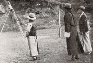 King of Sikkim with one of Smith's rockets