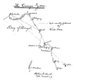 Smith hand drawn map from his book with the above title